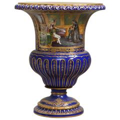 Sèvres Style Urn Depicting Napoleon I Meeting with the Countess of Bonchamps