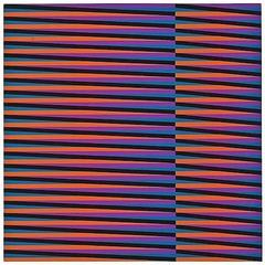 Carlos Cruz-Diez Kinetic Op Art Serigraph in Colors 1975 Signed