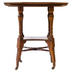 Jas Shoolbred Aesthetic Movement Walnut Octagonal Center Table