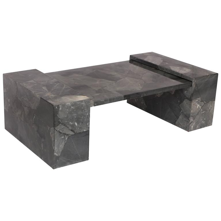 Delicieux Muller Faux Marble Stone Coffee Table Hand Painted Lacquer Grey, Mexico,  1970 For