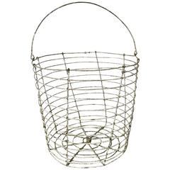 Vintage Wire Work Fruit Pickers Basket