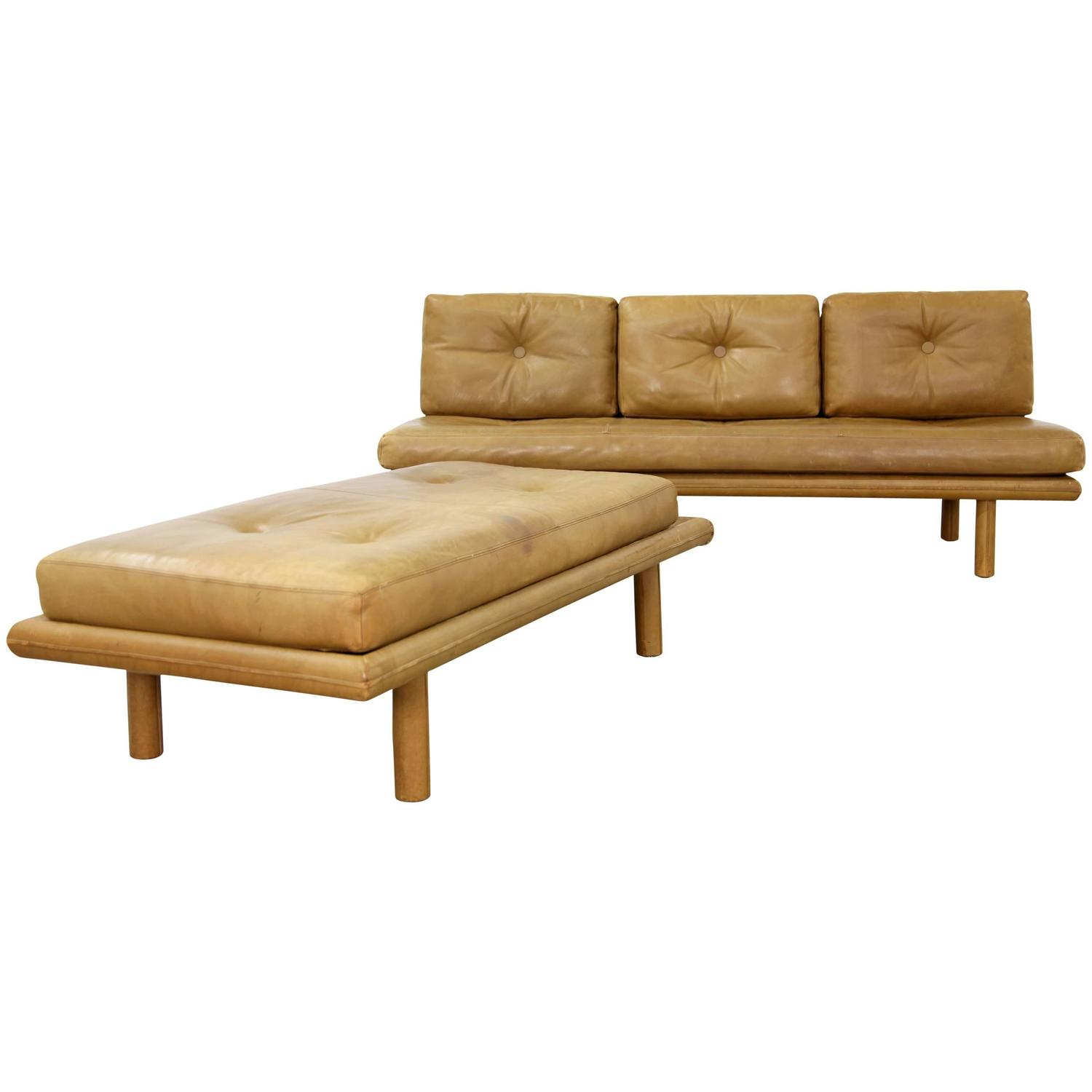 """Sofa Daybed and Ottoman """"Model 6603"""" by Franz Köttgen for Kill"""