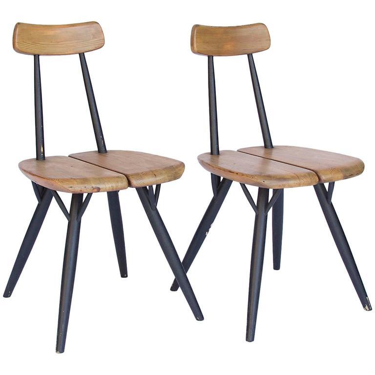 Set of Pirkka Chairs by Tapiovaara, 1955