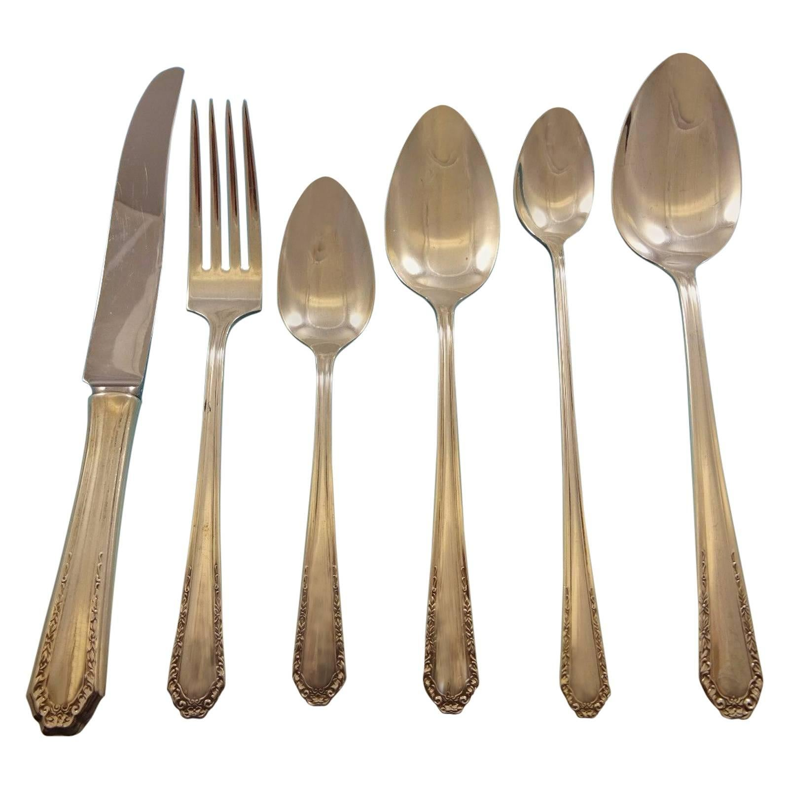Marianne by National Sterling Silver Flatware Service for Six Set of 38 Pieces