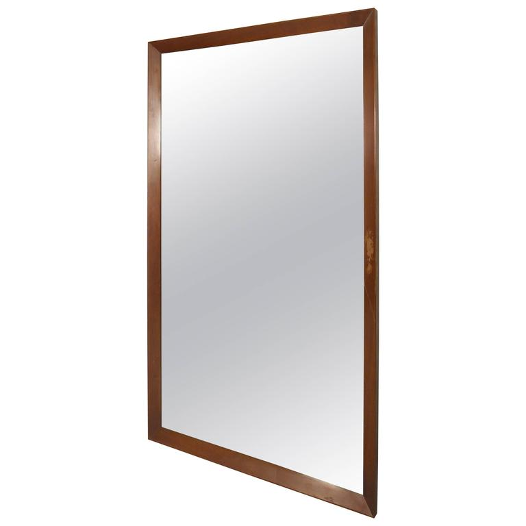 Large mid century modern mirror by john stuart at 1stdibs for Large contemporary mirrors