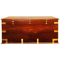 Large Antique Rosewood Blanket Chest
