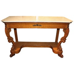 19th Century Biedermeier Marble-Top Console or Pier Table