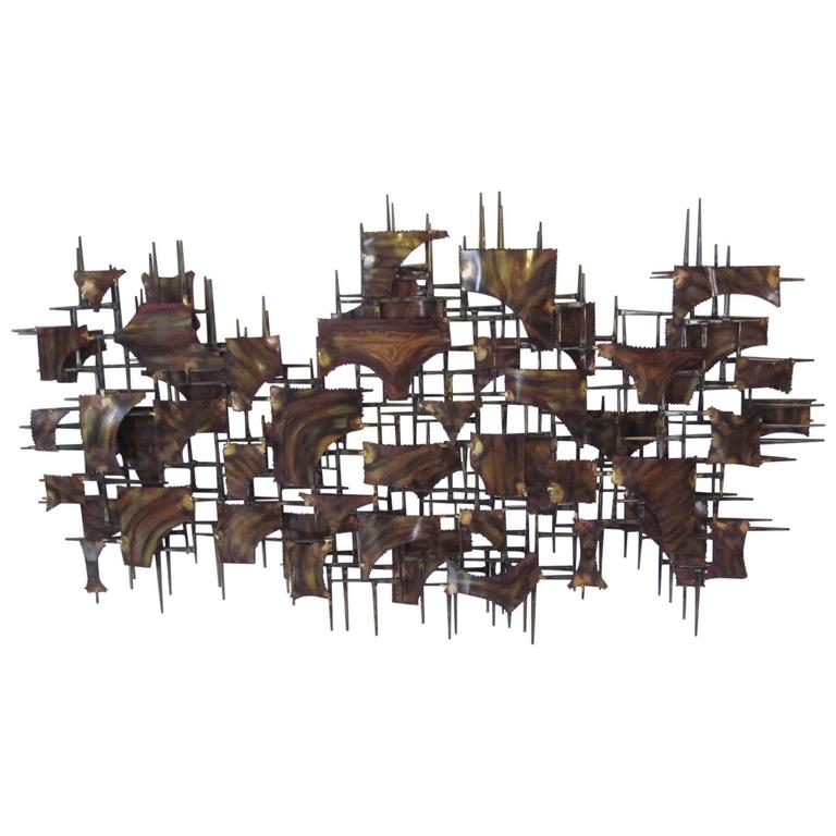 Silas Seandel Styled Large Brutalist Wall Sculpture