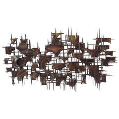 Silas Seandel Styled Large Brutalist Wall Sculpture