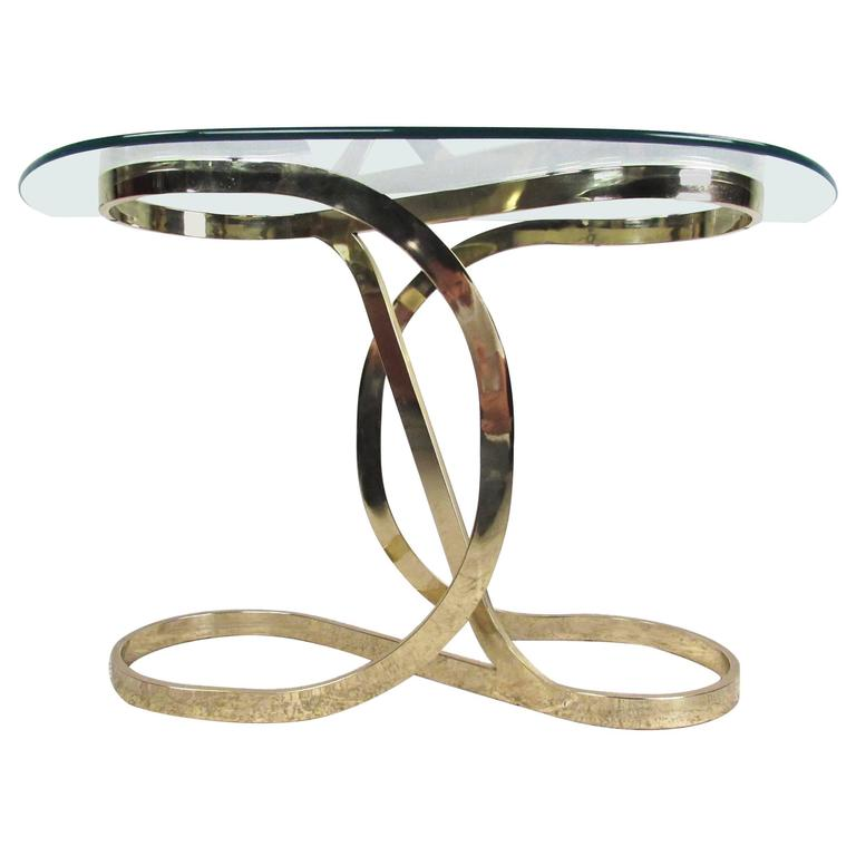 Contemporary Modern Brass Infinity Console Table
