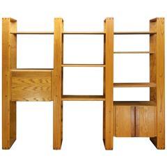Post Modern Lou Hodges California Design Group Wall Unit Desk Oak Cabinet
