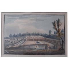 19th Century European Gouache, Casa di Diomede