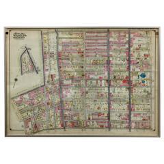 Rare 1916 Map of Prospect Park/Flatbush Avenue 'Brooklyn Map #6'