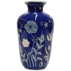 Large Art Deco Porcelain Vase from Rosenthal Hand-Painted with Floral Motifs