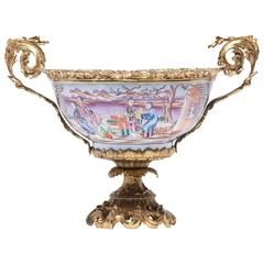Late 19th Century Chinese Porcelain and French, Ormolu Centerpiece