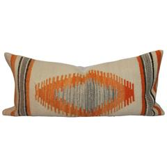 Geometric Navajo Eye Dazzler Weaving Bolster Pillow