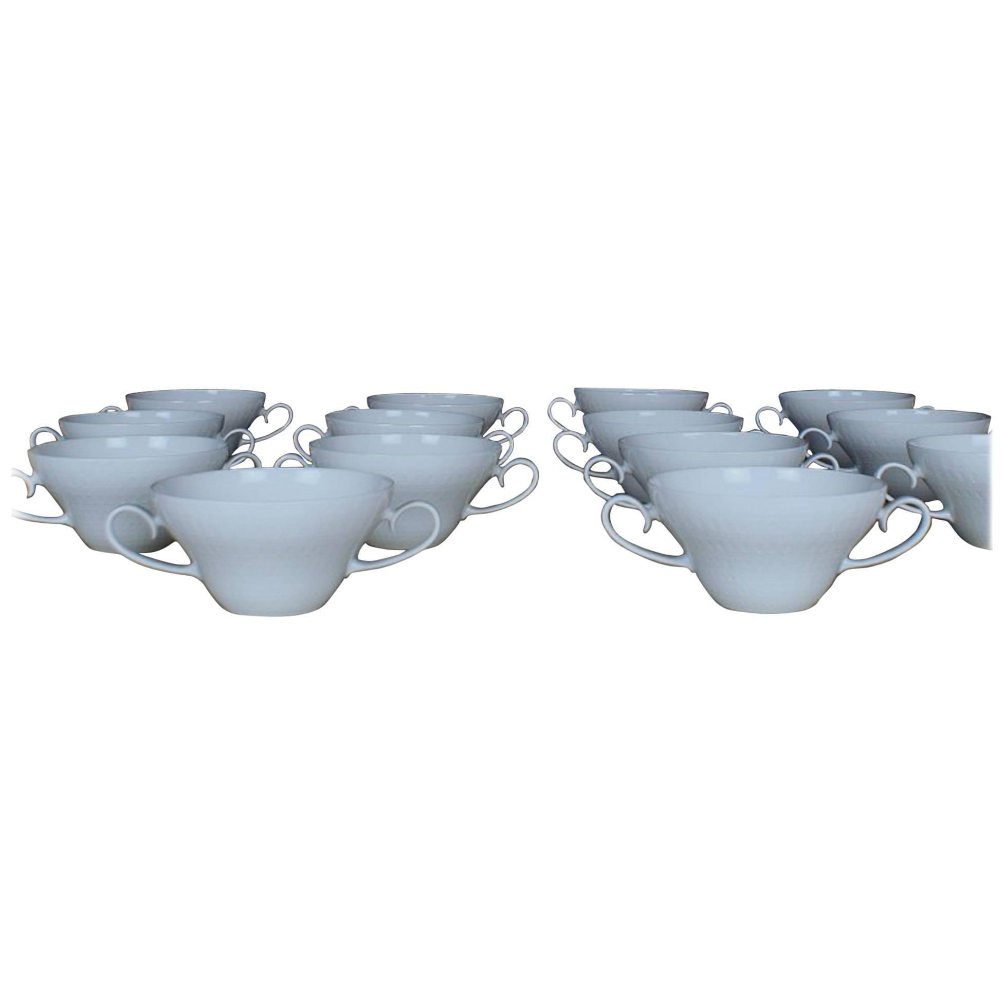 Rosenthal Bjorn Wiinblad 14 Bouillon Cups