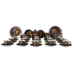 Large Vienna, 15 Persons Coffee Service, circa 1930s-1940s
