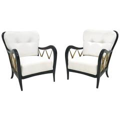 Pair of Armchairs by Paolo Buffa, 1940s
