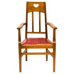 Arts & Crafts Oak Armchair by Jas Shoolbred