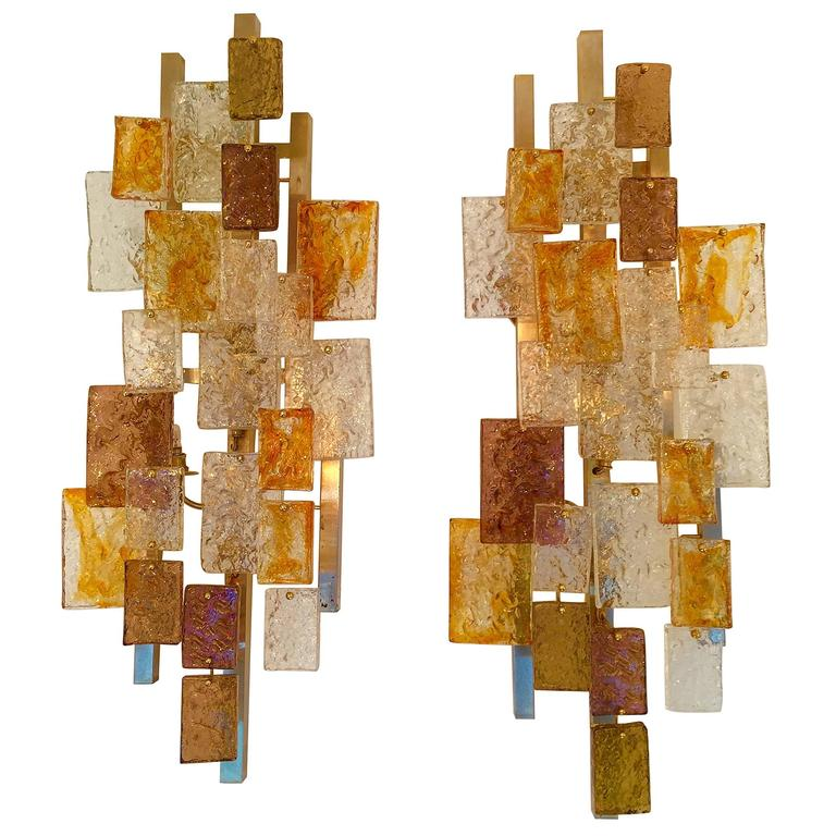 Pair of Sconces by VeArt Murano. Italy. 1970s