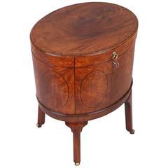 Fine George III Period Mahogany Oval Wine-Cooler
