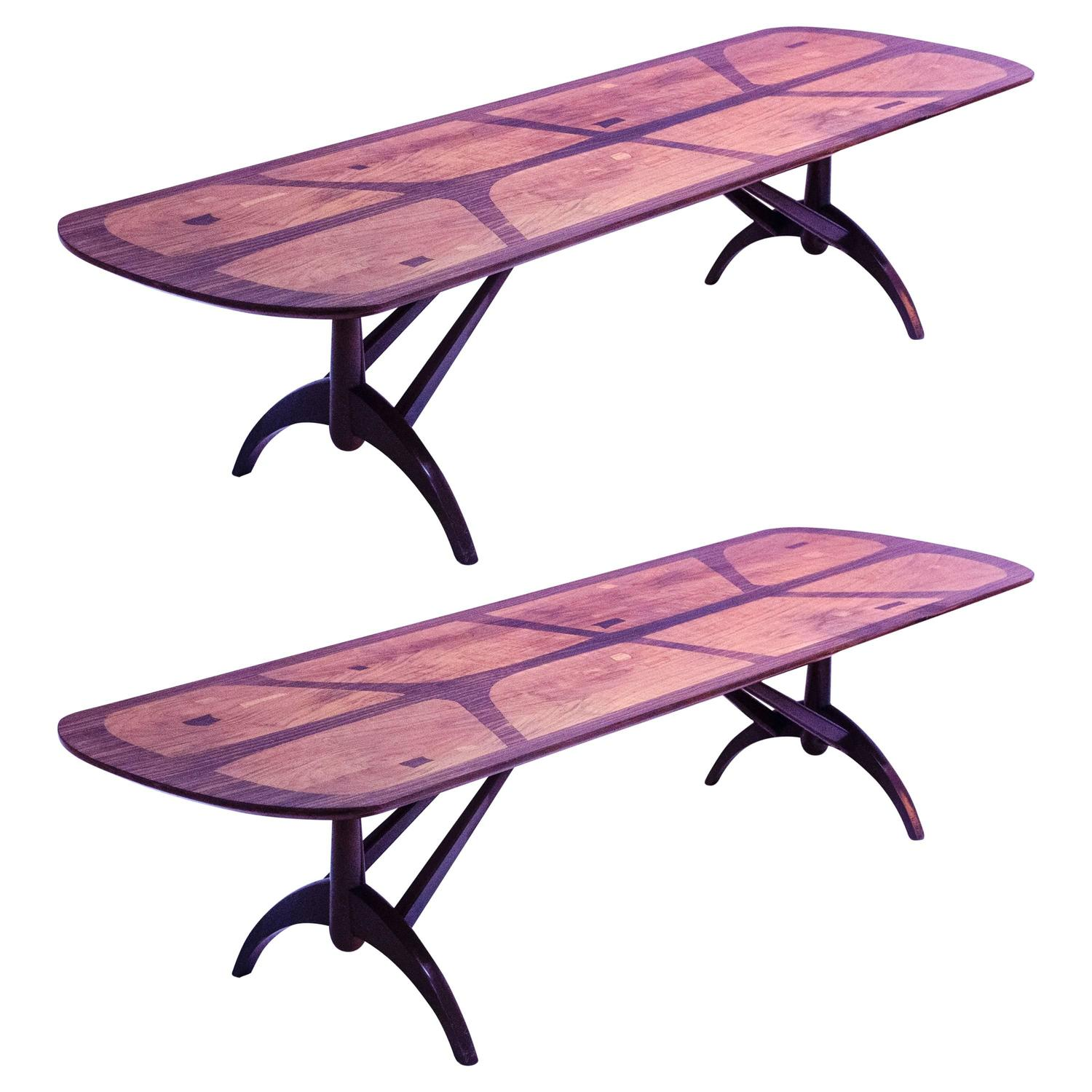Pair of Heals Long Tom Rosewood Coffee Tables For Sale at 1stdibs