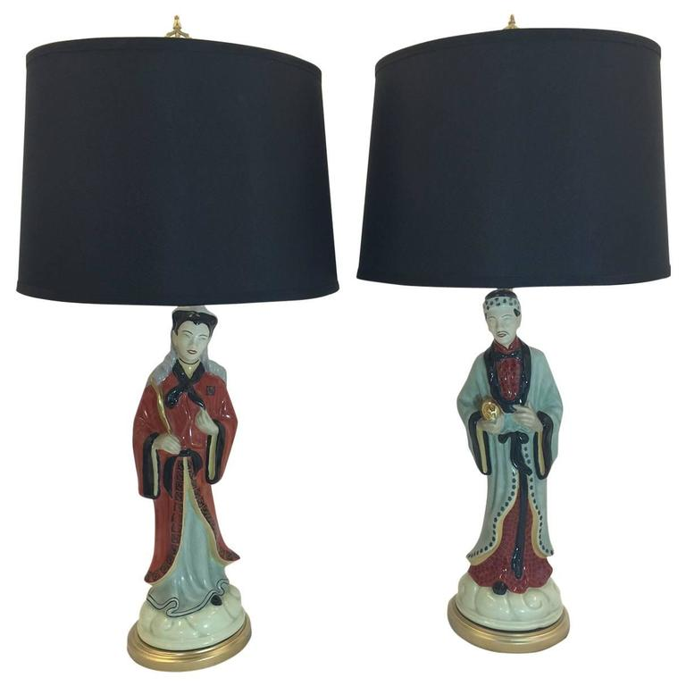 pair of vintage asian lamps for sale at 1stdibs. Black Bedroom Furniture Sets. Home Design Ideas