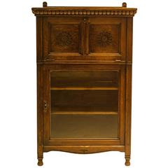 Gothic Revival Oak Cabinet by B Talbert