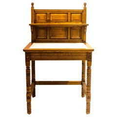 Bruce Talbert. An Arts & Crafts Oak Washstand probably made by Gillows