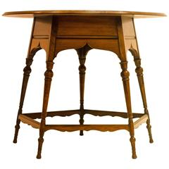 Arts & Crafts Circular Table in the Manner of E. W. Godwin