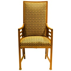 Anglo-Japanese Walnut Armchair Attributed to Liberty and Co