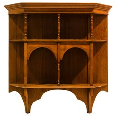E W Godwin attributed An Aesthetic Movement set of Oak Wall Shelves