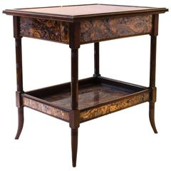 Mahogany Arts & Crafts Side Table by Collinson and Lock