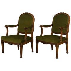 Pair of 19th Century Louis XVI Style Fauteuils