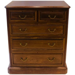 Morris and Co. Arts & Crafts Walnut Chest of Drawers with Finely Cast Handles