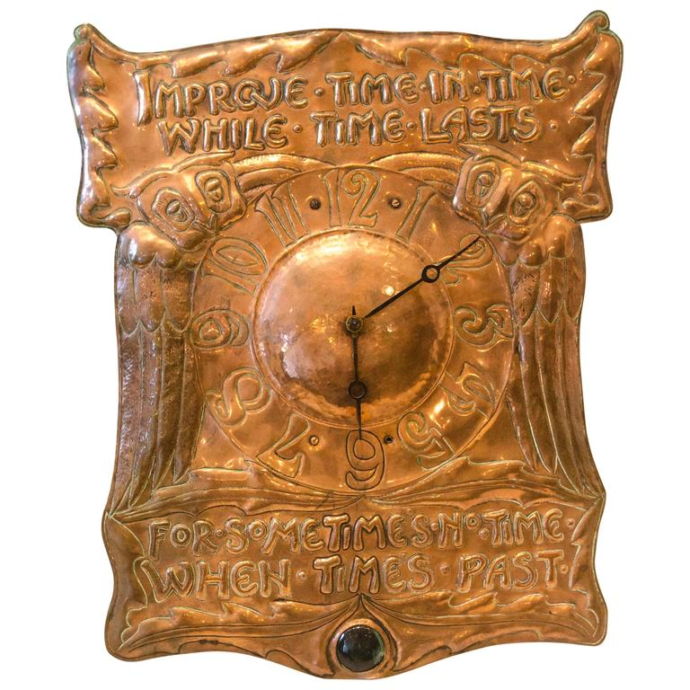 Arts and Crafts Wall Clock by Liberty and Co at 1stdibs