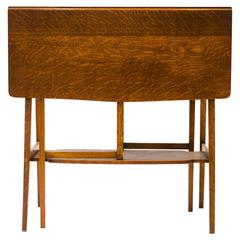 A Good Quality Arts & Crafts Oak Drop Leaf Side Table by Liberty and Co.