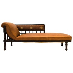 Anglo-Japanese Ebonized Chaise Longue Attributed to E W Godwin