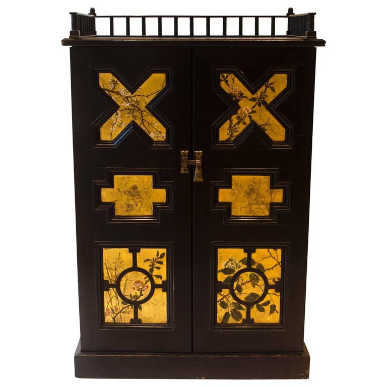 Ebonized Music Cabinet by Dr C Dresser