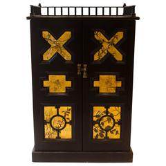 Ebonized Music Cabinet by Dr C Dresser
