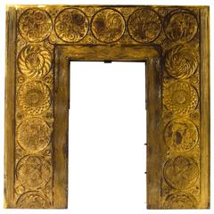 A Rare & Important Anglo-Japanese Cast Brass Fireplace Insert by Thomas Jeckyll