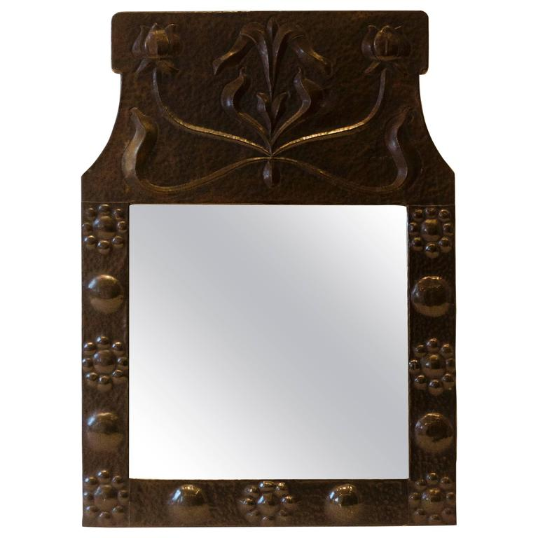 Copper Arts & Crafts Mirror Attributed to J. Pearson