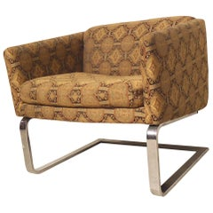 Milo Baughman Style Cantilever Tub Chair
