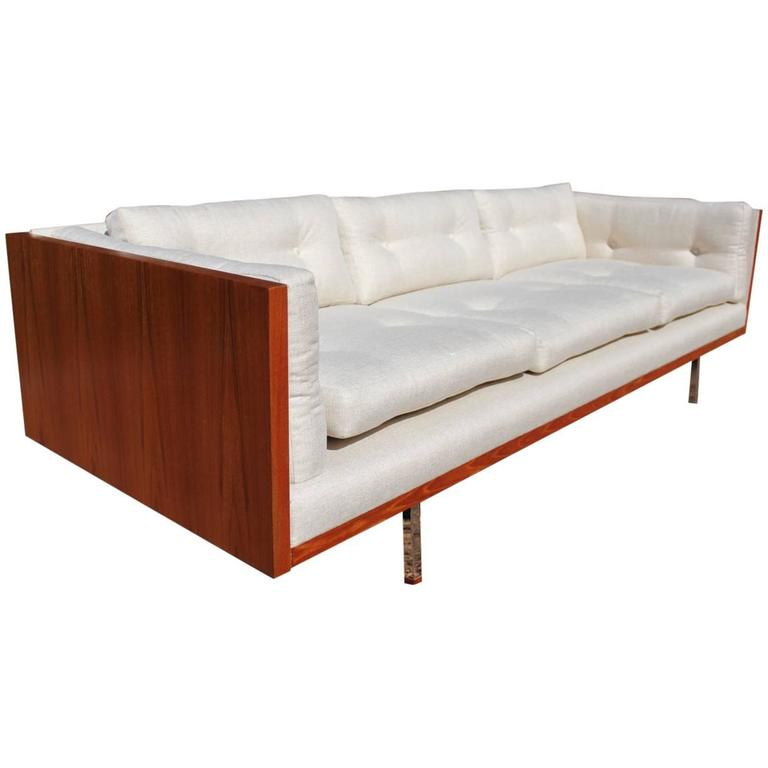 Teak Wrapped Sofa By Komfort Of Denmark At 1stdibs