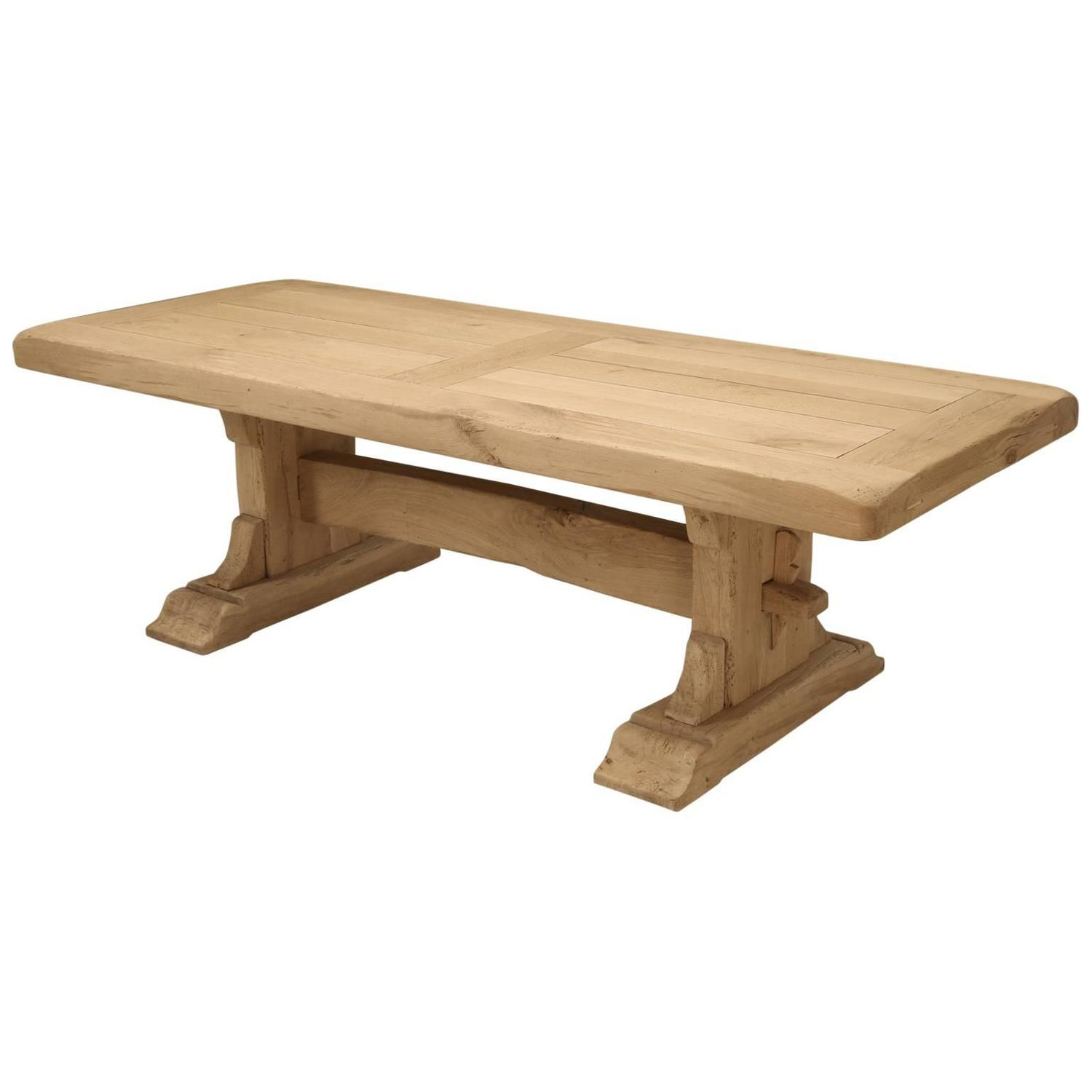 Antique French Oak Trestle Dining Table at 1stdibs : 5648983z from www.1stdibs.com size 1500 x 1500 jpeg 57kB