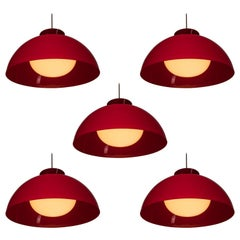 "Set of Five ""KD 6"" Pendant Lamps by Castiglioni for Kartell"