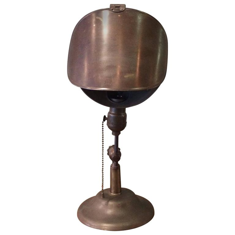 Industrial Brass Jewelers Table Lamp