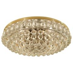 Large Palme Crystal Flush Mount Chandelier