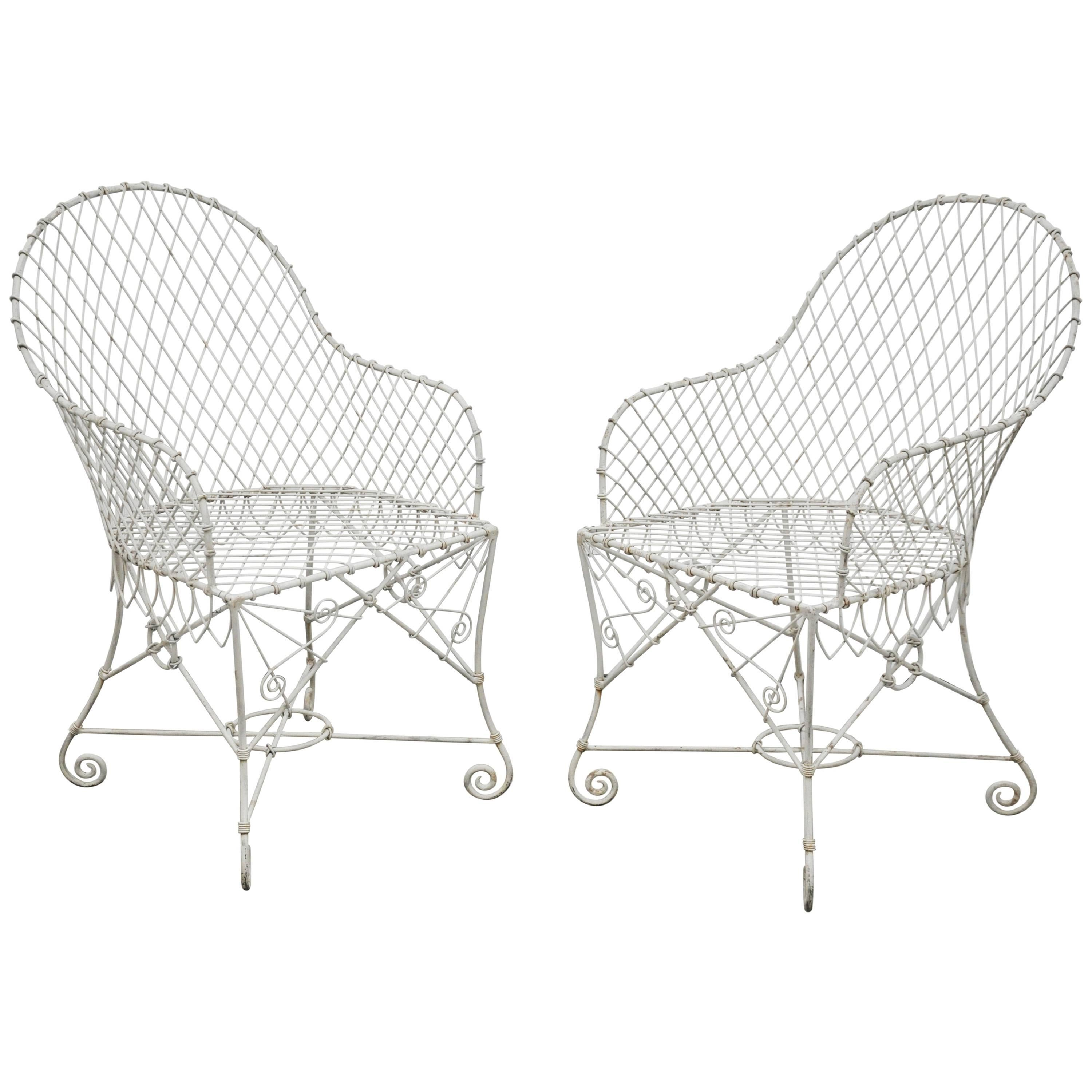pair of wire chairs for sale at 1stdibs Art Deco Design Motifs
